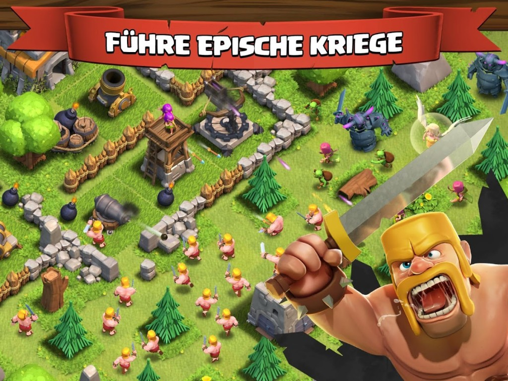 Der Free-to-Play Gigant - Clash of Clans. Quelle: Google Play Store