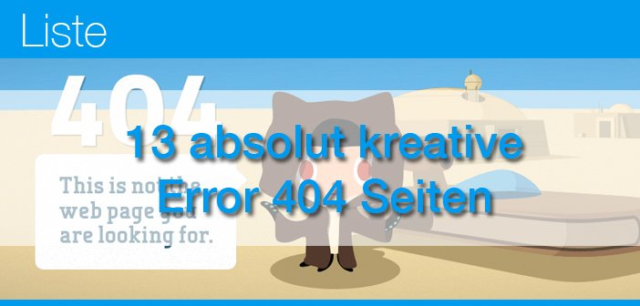 13 absolut kreative Error 404 Seiten