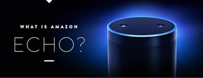 Diese kleine Runde Box ist Amazon Echo.