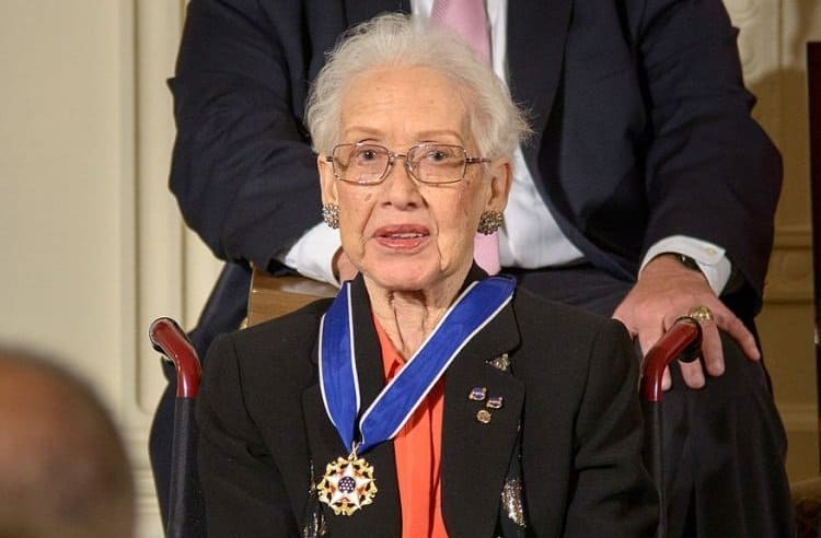 Katherine Johnson mit der Medal of Freedom