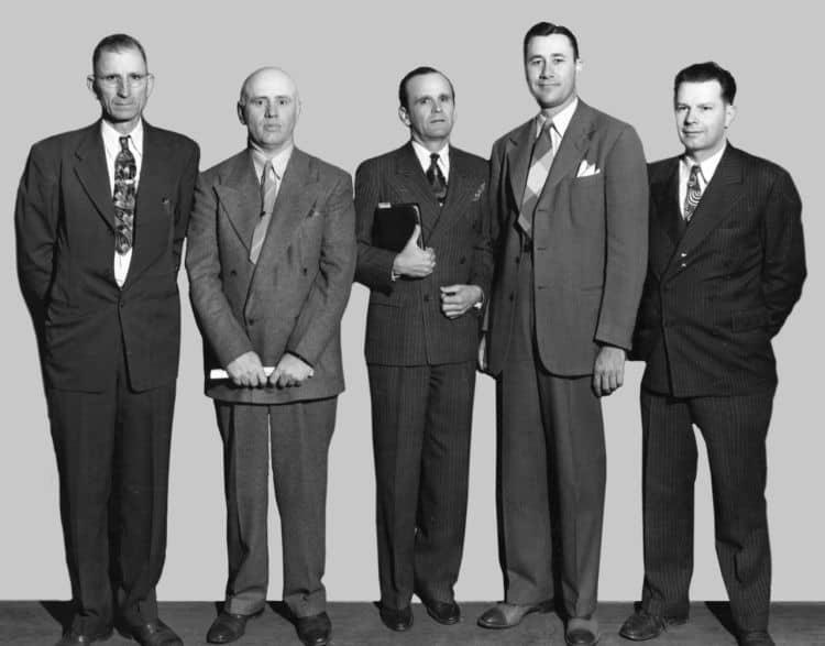 Gesichter des Televangelismus mit Oral Roberts, Zweiter von rechts
